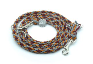 Handmade Kumihimo Firestone Leash by Kanji