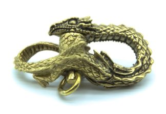 Handemade Dragon Shackle in Brass by Contour Paracord