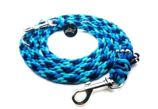 Handmade Kumihimo Shades Of BLue Leash by Kanji