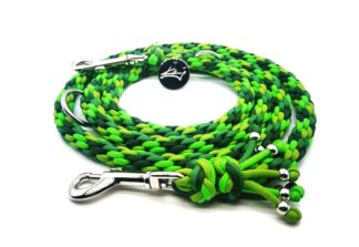 Handmade Kumihimo Shades Of Green Leash by Kanji