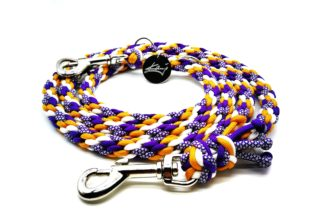 Handmade Kumihimo Diamond Lakers Leash by Kanji