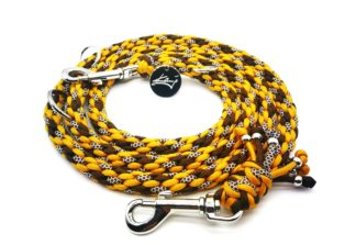 Handmade Kumihimo Golden Brown Leash by Kanji
